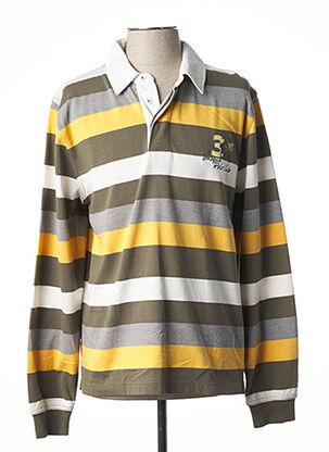 Polo manches longues jaune HAJO pour homme