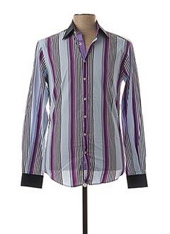Chemise manches longues violet IZAC pour homme
