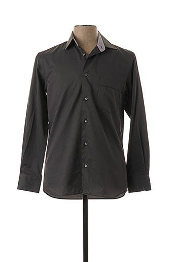 Chemise manches longues gris CAP 10 TEN pour homme