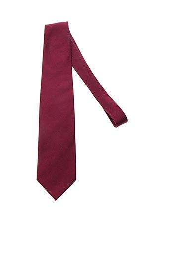 Cravate rouge CESARIO pour homme