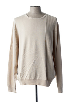 Pull col rond beige NEW SPORTSWEAR pour homme
