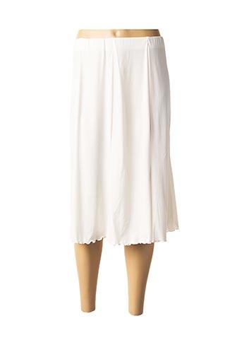 Jupe mi-longue blanc FLUIDE PARIS pour femme