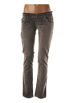 Jeans coupe slim gris FREE SOUL pour femme