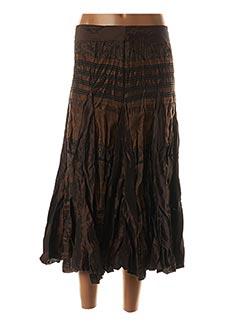 Jupe longue marron RED MOON pour femme