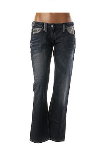 Jeans coupe droite bleu FREE SOUL pour femme