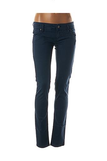 Pantalon casual bleu FREE SOUL pour femme