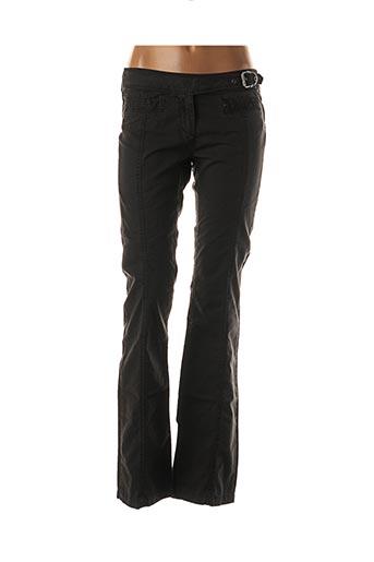 Pantalon casual noir DOUBLE ONE PEACE pour femme