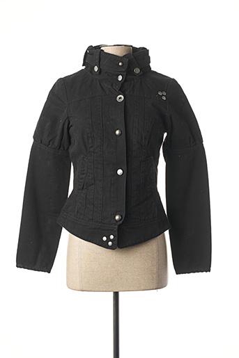 Veste en jean noir DOUBLE ONE PEACE pour femme
