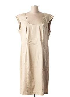 Robe mi-longue beige CONCEPT K pour femme