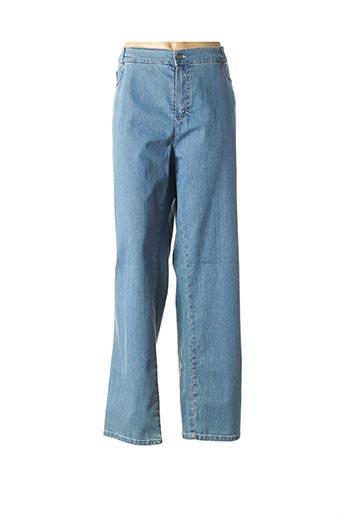 Jeans coupe slim bleu ANNA MONTANA pour femme