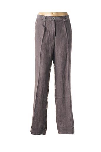 Pantalon casual gris FRANCOISE DE FRANCE pour femme