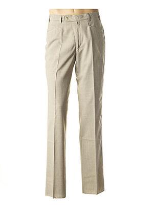 Pantalon chic beige CAFONE pour homme