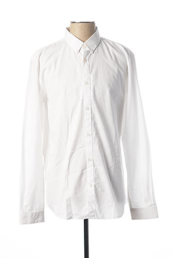 Chemise manches longues blanc TOM TAILOR pour homme