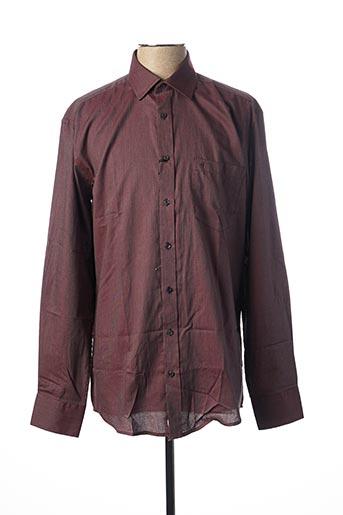 Chemise manches longues rouge BEN GREEN pour homme