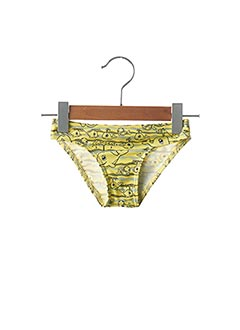 Bas de maillot de bain jaune MONDACA pour fille