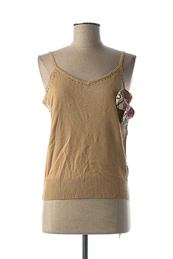 Pull col rond beige BELAIR pour femme