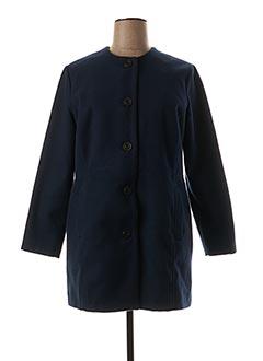 Manteau court bleu ZELI pour femme