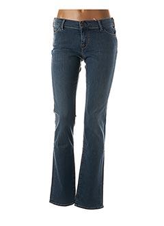 Jeans coupe droite bleu TEDDY SMITH pour femme