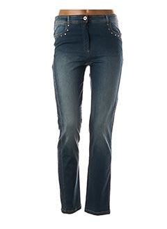 Jeans coupe slim bleu PAUSE CAFE pour femme
