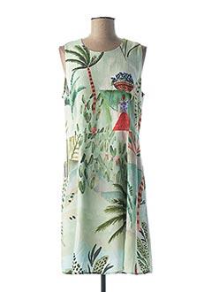 Robe mi-longue vert DESIGUAL pour femme