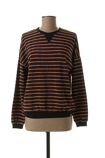 Pull col rond rouge BLUNE pour femme