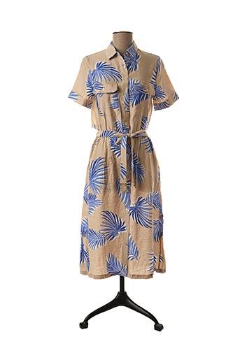 Robe mi-longue beige FRNCH pour femme