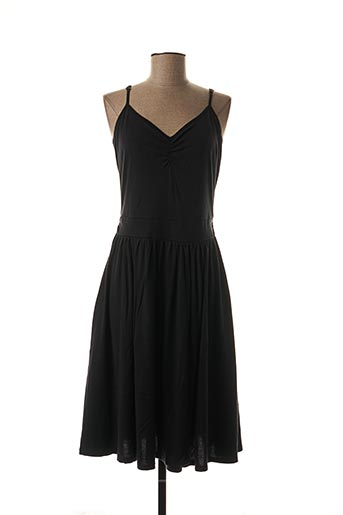 Robe mi-longue noir EMILE ET IDA pour femme