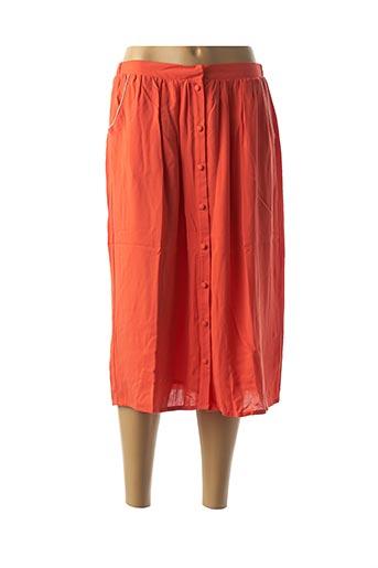 Jupe mi-longue orange BLUNE pour femme