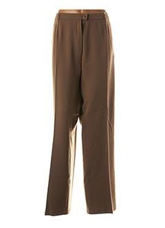 Pantalon chic beige QUATTRO pour femme