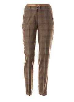 Pantalon chic marron QUATTRO pour femme