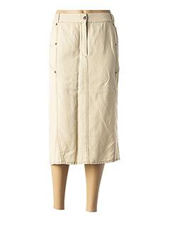 Jupe mi-longue beige QUATTRO pour femme