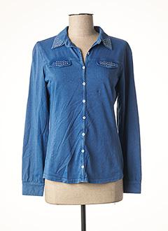 T-shirt manches longues bleu GRIFFON pour femme