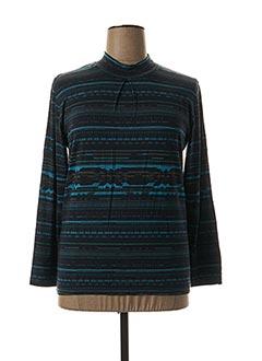 T-shirt manches longues bleu CLAUDE DE SAIVRE pour femme