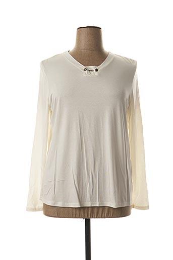 T-shirt manches longues blanc DESAIVRE pour femme