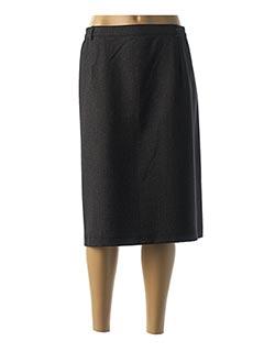 Jupe mi-longue noir VALMODE pour femme