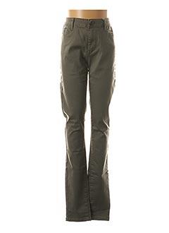 Pantalon casual vert VILA pour femme
