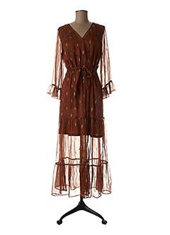 Robe longue marron GRACE & MILA pour femme