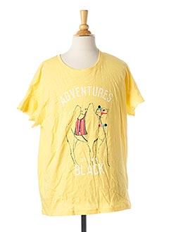 T-shirt manches courtes jaune NAME IT pour fille