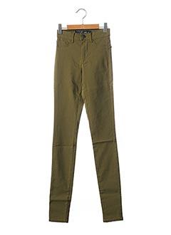 Pantalon casual vert PIECES pour fille
