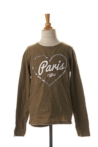 T-shirt manches longues vert TIFFOSI pour fille