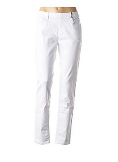 Pantalon casual blanc TELMAIL pour femme