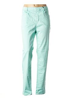 Pantalon casual vert TELMAIL pour femme