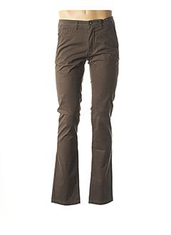 Pantalon casual vert DELAHAYE pour homme