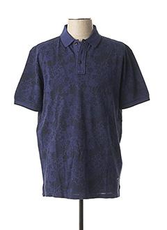 Polo manches courtes bleu DELAHAYE pour homme