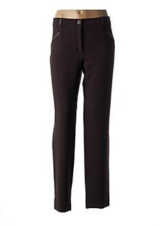 Pantalon casual marron DIVAS pour femme