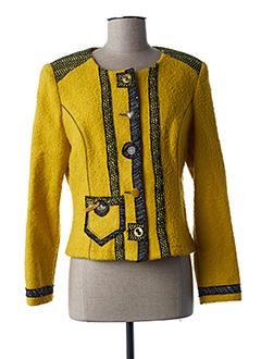 Veste chic / Blazer jaune PAUSE CAFE pour femme