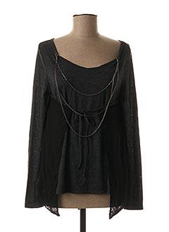 T-shirt manches longues gris AKELA KEY pour femme
