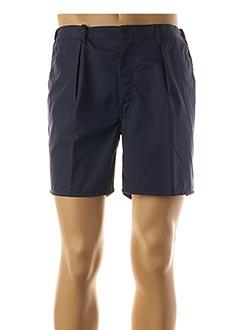 Short bleu PIERRE D'ARLANC pour homme