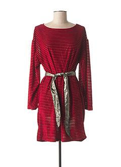 Robe courte rouge MISMASH pour femme