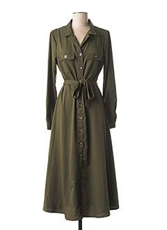 Robe mi-longue vert MISMASH pour femme
